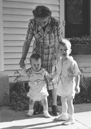 Gertrude McGowan and grand nephews