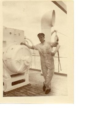 Douglas Porter working as a ship's engineer
