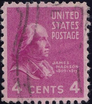 James Madison 4 Cents US Postage