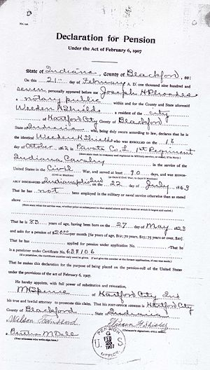 Weeden Shields Civil War Pension File Image 3