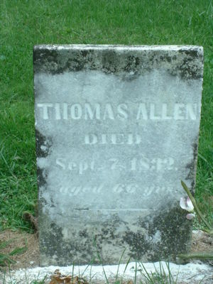 Thomas Allen Tombstone