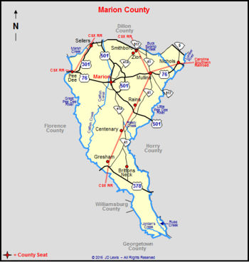 Marion County, South Carolina on cooper's point south carolina map, i-40 map, rt 74 north carolina map, conway bypass map, hwy 74 nc map,