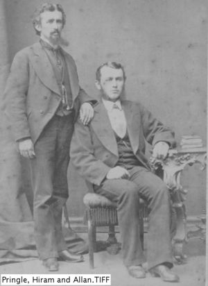 Dr. Allan Fisher Pringle (standing), Dr. Hiram Hayward Pringle (seated)