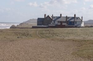 Coastguard houses at Weybourne Norfolk