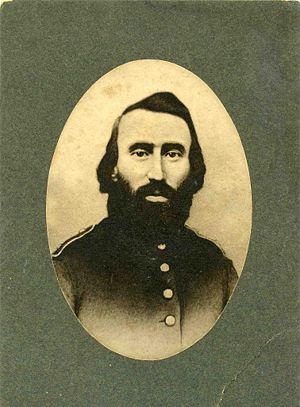 Sylvester Bartlett about 1862. Civil War Uniform.
