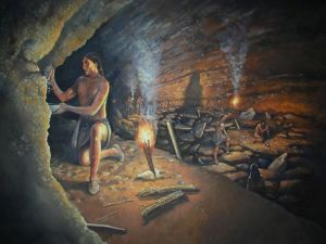Native Americans use Mammoth Cave