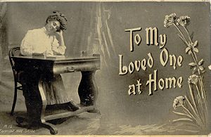 'To My Loved One at Home' Postcard