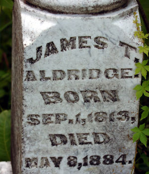 James Thomas Aldridge  1813-1884