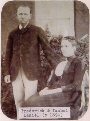 Photo of Frederick W Daniel and Isabel (Turner) Daniel