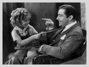 John Love Boles and Shirley Temple - on the set of Curly Top