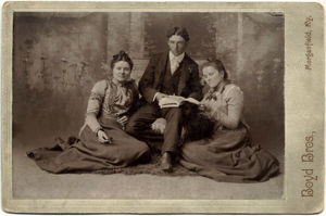 Alma A (Henry) Jeffries and her sister and brother