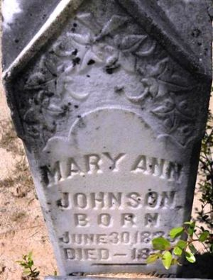 Mary Ann Findley Tombstone