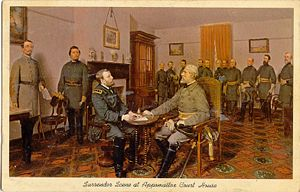 Surrender at Appomattox Postcard