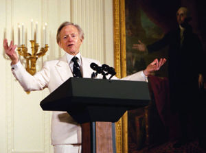 Author Tom Wolfe participates in the White House Salute to American Authors hosted by Laura Bush