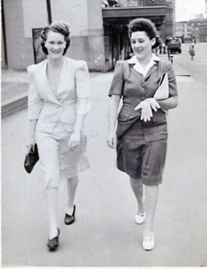 Evelyn Bech nee Oxley (on the left)