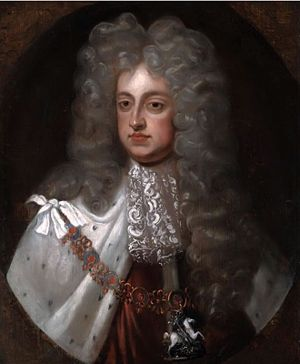 George II as King in Silver Periwig