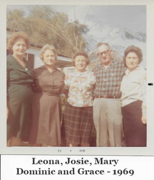 Monteleone Siblings: Leona, Josie, Mary, Dominick and Grace - 1969