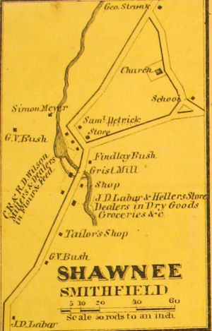 Shawnee 1860 Map with Names