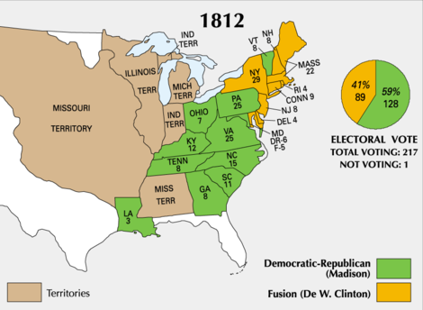 map of american states and territories in 1812