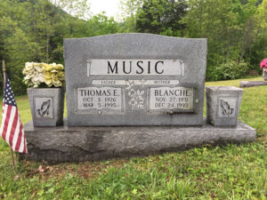 Blanch and Tom Music Headstone