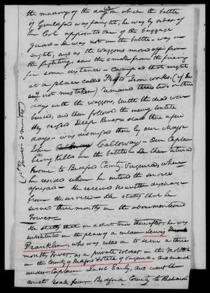 FRANKLIN Lewis (Revolutionary War service record) Page 38