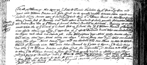 Land grant 23 October 1690 Overton, William and Lydall, John,  New Kent County. Land Office Patents No. 8, Library of Virginia.