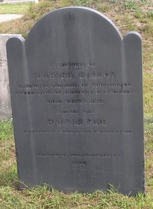 Mathurin and Hannah Ballou marker