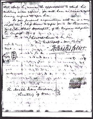Fayette H. Norvell - Application to West Point 1825 Letter From Brother's Friend Page 5