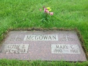 Allen and Mary McGowan Gravestone