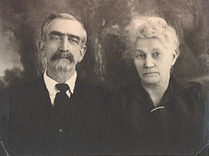 MC and Adeline, probably in 1929 for their 50th anniversary