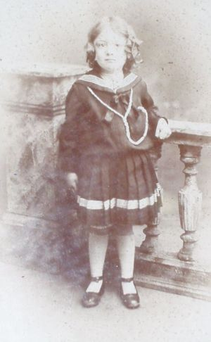 Gwendoline Alexandra Buckle as a young girl