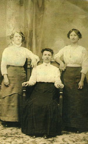 Photograph of Mary, Agnes, and Elizabeth Kroliczak