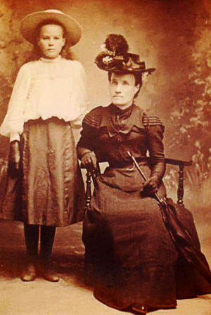 Mary [nee Yates] with her only daughter, Mabel Theodosia Christina Mary Logan