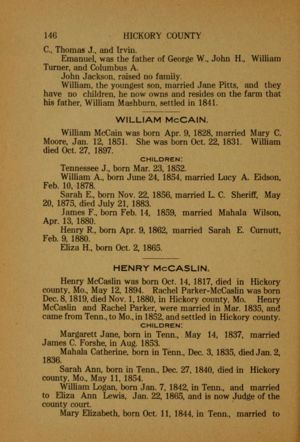 Wilson's history of Hickory County (1909), pg 146