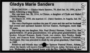 Gladys Marie (Romans) Sanders (1914-1994)   WikiTree FREE