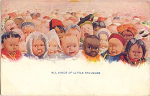 'All Kinds of Little Troubles' Postcard