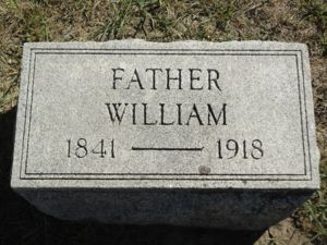 gravestone of William Burgess (1841-1918)