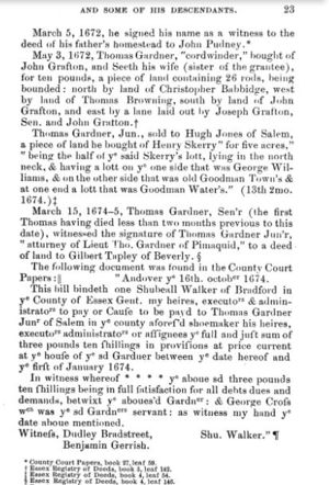 Thomas Gardner, Planter; page 23
