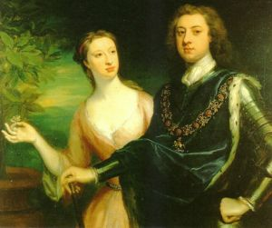 Sir Charles Lennox, Second Duke of Richmond & wife, Lady Sarah
