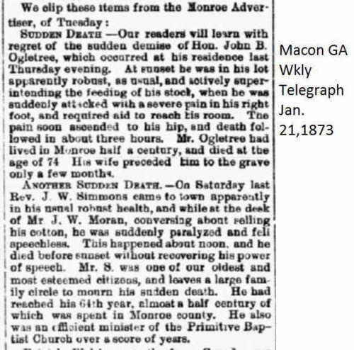 J W Simmons Obituary Macon Ga Weekly Telegraph