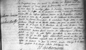Marriage Record Madelene and Guillaume Vanier