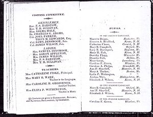 School Catalogue for the Year 1828