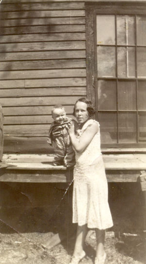 Alice Sheppard Dennis and son, Jimmy Dennis