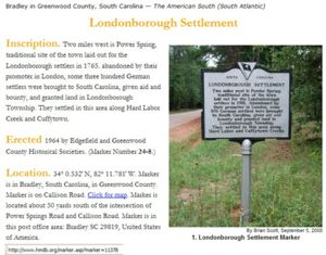 Londonborough Settlement Historical Marker