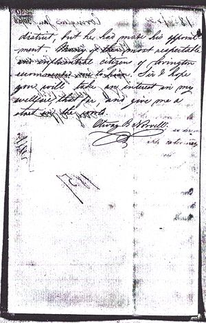 Otway B. Norvell - Application to West Point 1856 Page 4