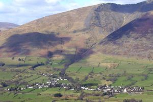 Village of Threlkeld at Base of Blencathra