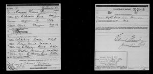 WWI Draft Registration Card for Earnest Thomas Brown
