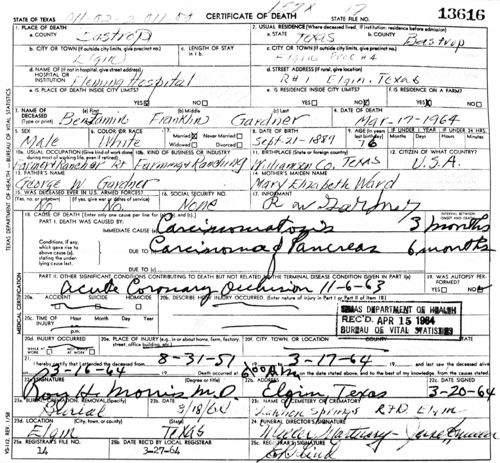 Texas Birth Certificate