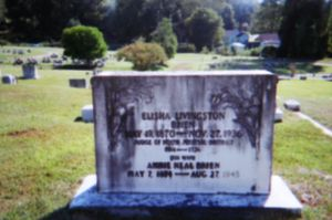 Tombstone of Mr. and Mrs. Brien