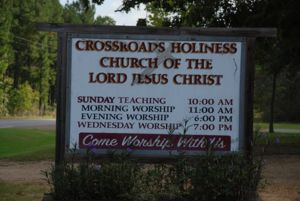 Crossroads Holiness Church - Sign